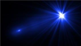 Свет пирофакела объектива над черной предпосылкой Легкий для того чтобы добавить верхний слой Стоковые Изображения RF