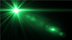 Свет пирофакела объектива над черной предпосылкой Легкий для того чтобы добавить верхний слой Стоковое фото RF