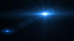Свет пирофакела объектива над черной предпосылкой Легкий для того чтобы добавить верхний слой Стоковая Фотография RF