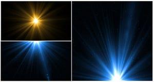 Свет пирофакела объектива над черной предпосылкой Легкий для того чтобы добавить верхний слой Стоковые Изображения