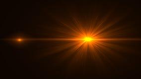 Свет пирофакела объектива над черной предпосылкой Легкий для того чтобы добавить верхний слой Стоковое Изображение RF