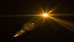 Свет пирофакела объектива над черной предпосылкой Легкий для того чтобы добавить верхний слой Стоковое Фото