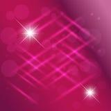 Свет поставленный точки конспектом - фиолетовая предпосылка Стоковая Фотография