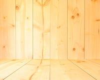 Свет - предпосылка текстуры желтого цвета деревянная Стоковое Фото