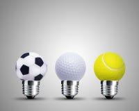 свет принципиальной схемы шарика Стоковая Фотография RF