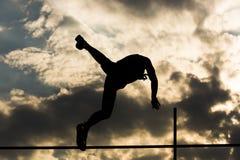 Свет прыжка с шестом задний Стоковое Изображение RF