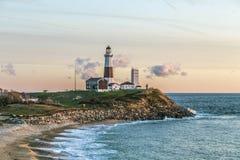 Свет пункта Montauk, маяк, Лонг-Айленд, Нью-Йорк, суффольк Стоковое Изображение RF