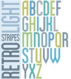 Свет плаката striped шрифт, uppercase письма на белизне бесплатная иллюстрация