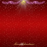 свет рождества карточки предпосылки Стоковое Изображение RF