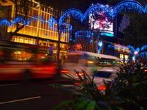 свет рождества singapore вверх Стоковые Изображения