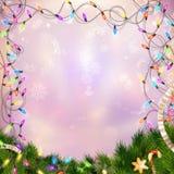 Свет рождества defocused 10 eps Стоковая Фотография RF