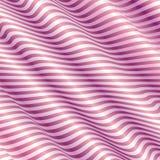 Свет - розовая предпосылка с абстрактной волной Стоковые Фотографии RF