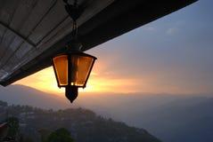 свет светильника Стоковая Фотография