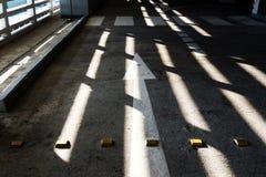 Свет светит через свет на улице стоковое изображение