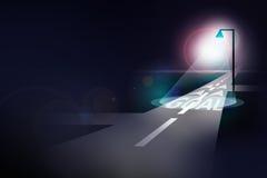 Дорога к цели Стоковая Фотография RF