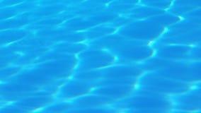 Свет светя на голубой бассейн видеоматериал