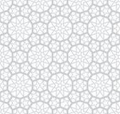 Свет - серая картина арабескы иллюстрация вектора