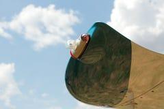 Свет сигнала на крыле самолета Стоковая Фотография