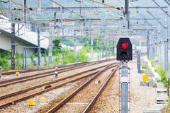 Свет сигнала поезда железнодорожный стоковое фото