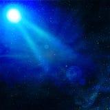 свет сини луча Стоковые Изображения
