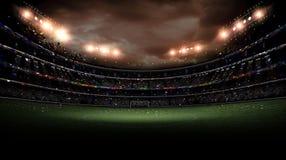 Свет стадиона на ноче Стоковые Фотографии RF