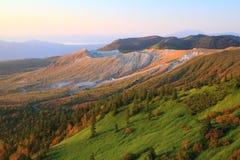 Свет утра в горе Стоковые Изображения