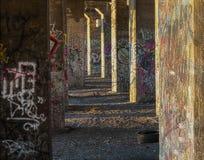 Свет утра на граффити подземных Стоковые Изображения RF