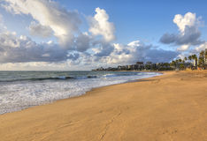 Свет утра на пляже в Maceio стоковое фото rf