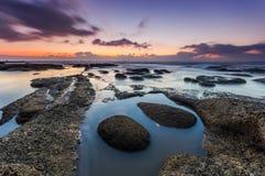 Свет утра пляжа Стоковые Изображения RF