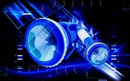 Свет факела иллюстрация вектора
