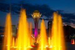 свет фонтана Стоковые Изображения