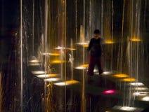 свет фонтана Стоковое Изображение