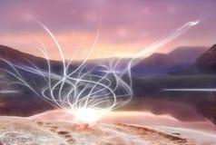 Свет фрактали Стоковые Фото