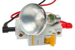 свет цепи шарика выключателя электрический Стоковые Изображения RF
