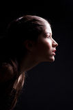 свет черной передней девушки длительный к детенышам Стоковое Изображение RF