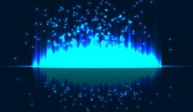 Светлые вертикальные нашивки на изолированной предпосылке Искры световых лучей также вектор иллюстрации притяжки corel Стоковое фото RF
