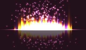 Светлые вертикальные нашивки на изолированной предпосылке Искры световых лучей также вектор иллюстрации притяжки corel Стоковое Изображение