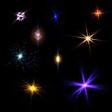 Светлые влияния пирофакела Стоковые Фотографии RF
