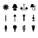 Светлые иконы Стоковые Изображения RF