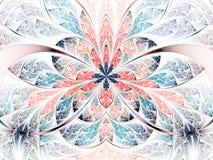 Светлые и красочные цветок или бабочка фрактали Стоковое Фото