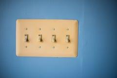 светлые переключатели стоковое изображение rf
