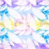 Светлые пер, большой и малый на предпосылке акварели Стоковые Изображения RF
