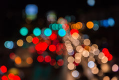 светлые потоки от продолжающийся движения в дороге финансового района Стоковое Изображение RF