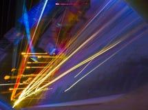 Светлые следы автомобилей в Гуанчжоу Стоковое фото RF