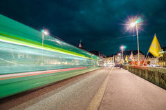 светлые следы ночи Стоковое Изображение RF
