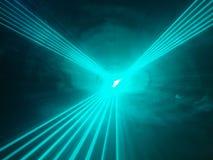 Светлые лучи выставки в клубе диско Стоковое Фото