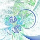 Светлые цветок или бабочка фрактали Стоковые Фото