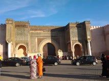 Светлые люди marocco meknes неба стоковые фотографии rf