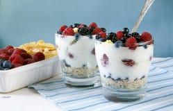 Светлый завтрак для 2 Стоковое Фото