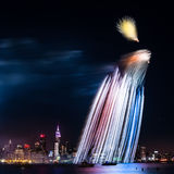 Светлый ливень над Манхаттаном Стоковые Фотографии RF